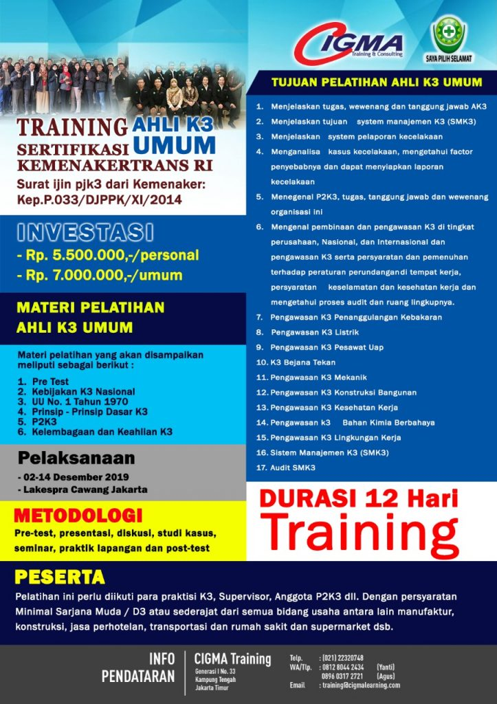 brosur training k3 umum