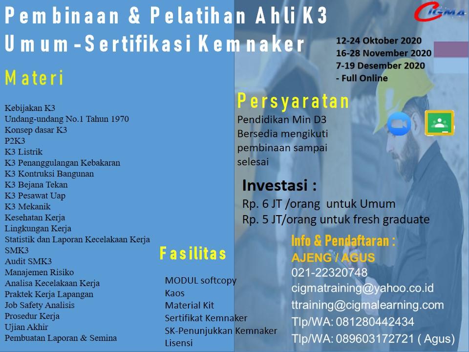 Training K3 Umum Secara Online